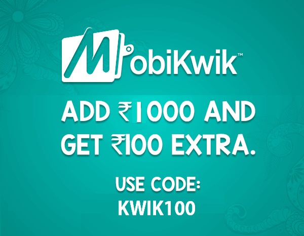Mobikwik Coupons Kwik100