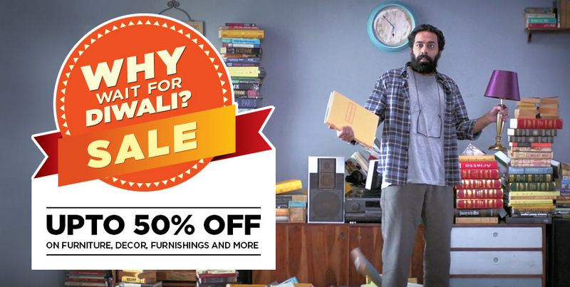 Pepperfry Why wait for Diwali Sale