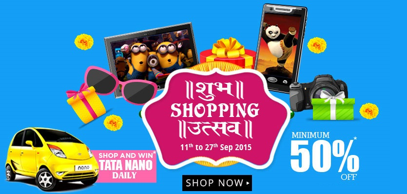 Shubh Shopping Utsav at HomeShop18 Win Tata Nano Daily