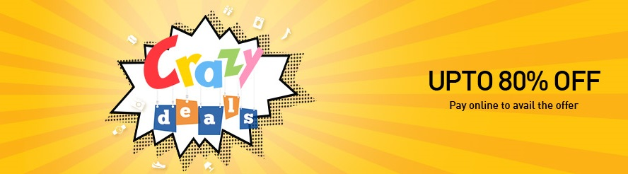 Snapdeal Crazy Deals get discount on online orders