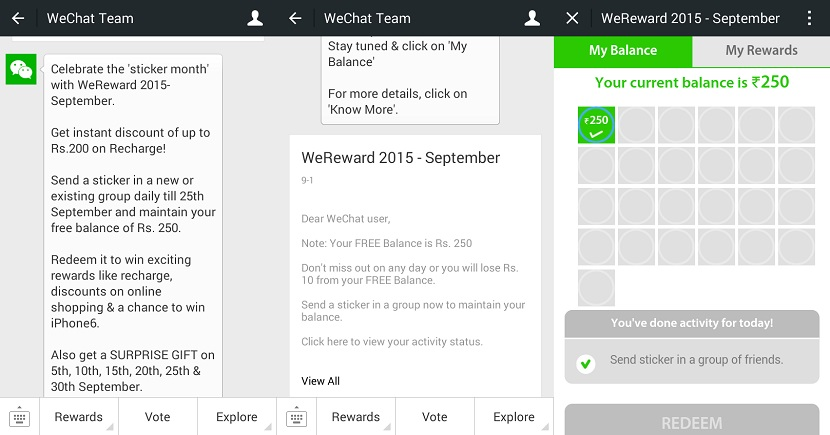 WeChat WeReward September 2015 start process