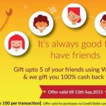 (Last Day) Woohoo Offer : Gift Up to 5 Friends & Get 100% Cashback