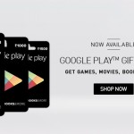 Google Play Gift Cards available on Snapdeal