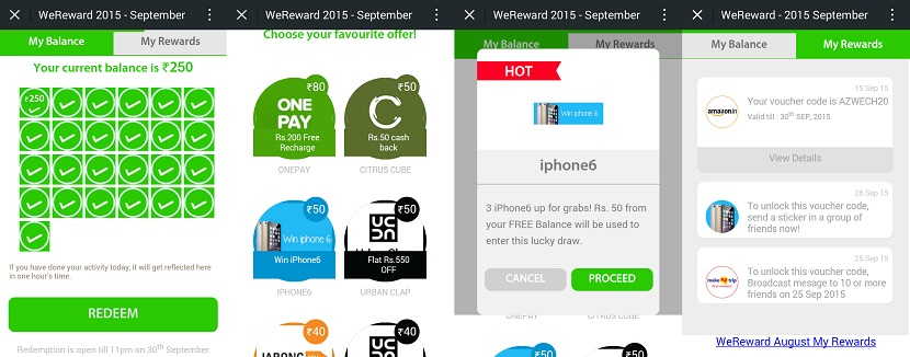 wechat wereward september redeem process