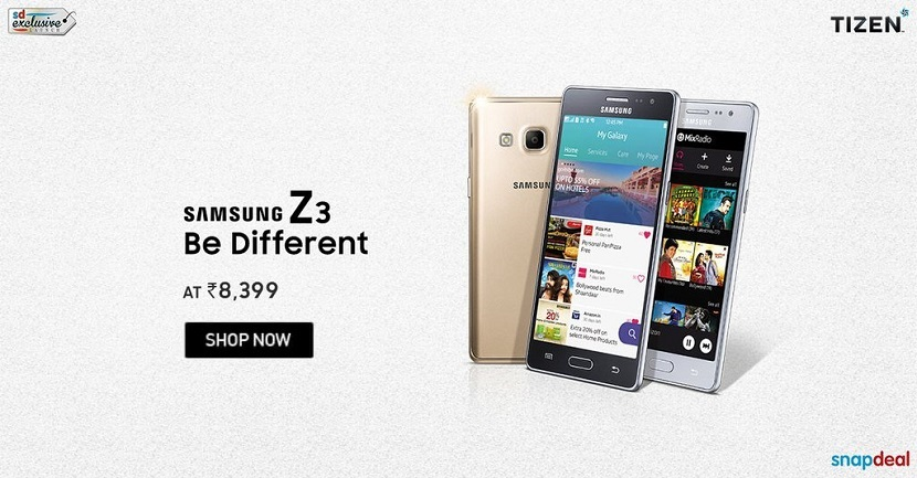 Buy Samsung Galaxy Tizen Z3 at Snapdeal