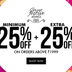Jabong Great Festive Deals – Minimum 25% OFF + Extra 25% OFF