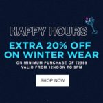 Jabong Thursday Happy Hours Sale – Extra 50% Coupon