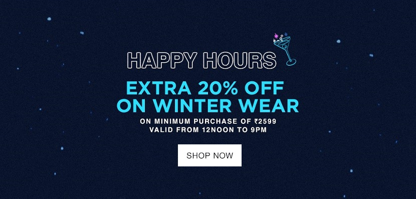 Jabong Thursday Happy Hours Sale Winter20