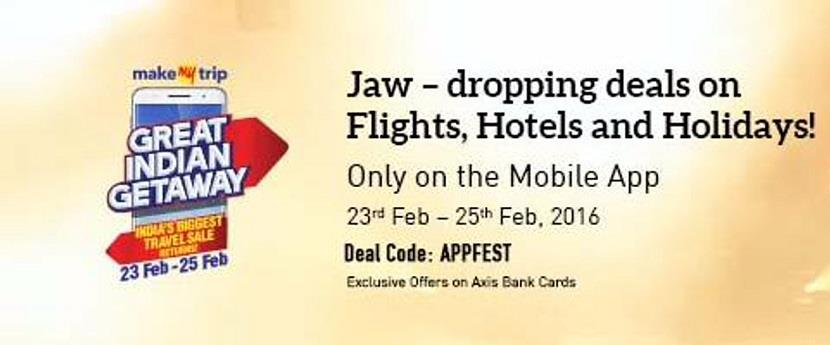 MakeMyTrip Great Indian Getaway Sale Feb