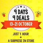 Mobikwik 9 Days 9 Deals For 1 Hour Everyday From 13 – 21 October