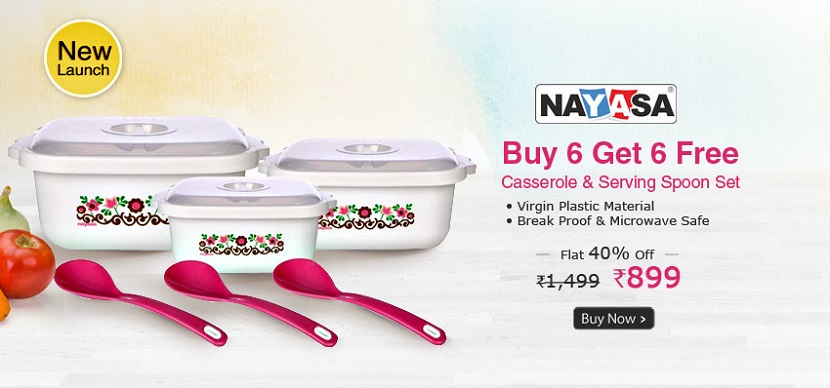 Nayasa Casseroles Square Printed Buy 6 Get 6 Free