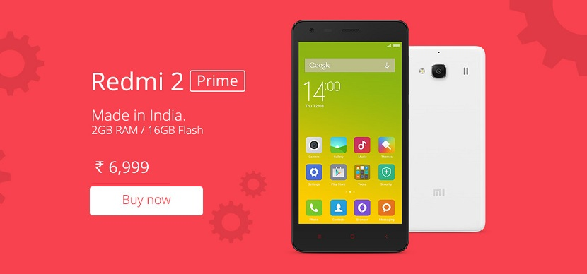 Redmi 2 Prime available on Amazon 6999