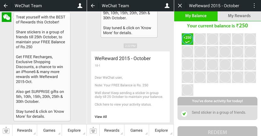 Wechat Wereward october 2015 first tut