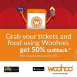 Woohoo Offer – 50% Cashback on Movie Tickets & Food
