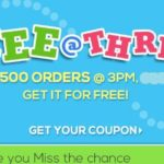 Firstcry FREE at Three – First 500 Orders free on 12th May