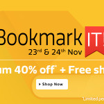 Flipkart Bookmarkit Sale – From 23rd – 24th November