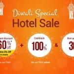 Goibibo Diwali Hotel Sale – Flat 60% OFF + 100% Cashback