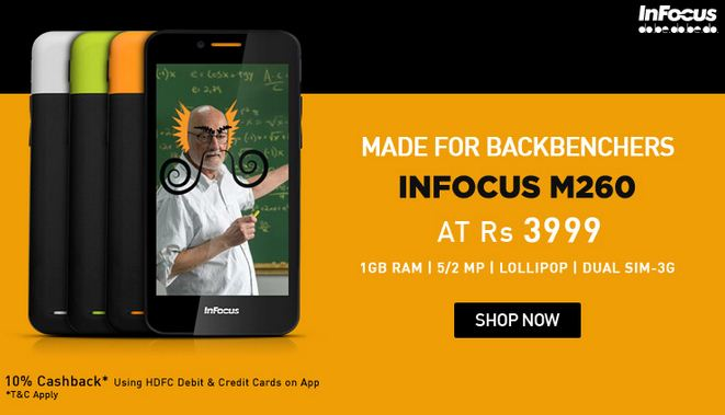 Infocus M260 snapdeal