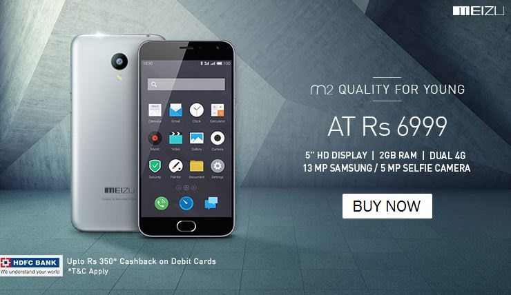 Meizu M2 Flash Sale started on Snapdeal