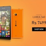 Microsoft Lumia 540 Price Slashed Now available at Rs.7499