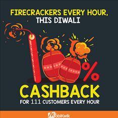 Mobikwik firecrackers 100 cashback