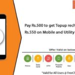 Nearbuy Freecharge Offer – Topup Recharge worth Rs.550 at Rs.450