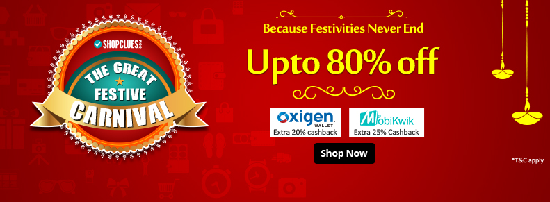 Shopclues Great Festive Carnival Diwali Sale
