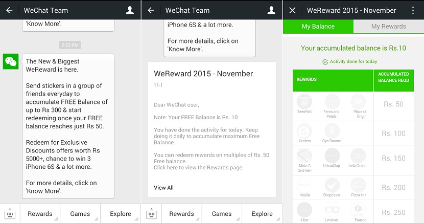 WeChat WeReward November