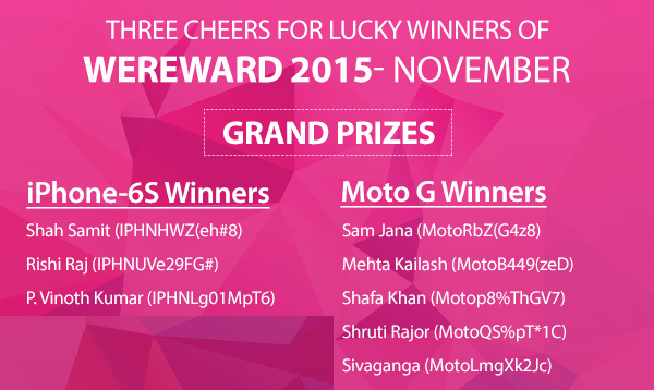 WeChat WeReward winners November