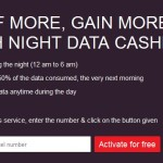 Airtel Night Data Cashback Offer : Get 50% Off Surf More Gain More