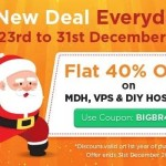 BigRock Christmas Sale – 40% off on your MDH, VPS & DIY Hosting