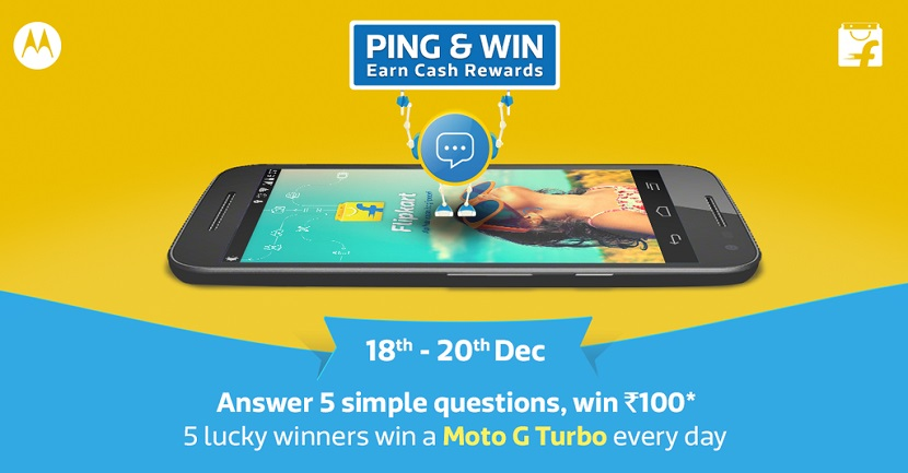 Flipkart Ping and Win the Moto G