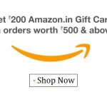 Mega Loot – Free Rs. 200 Amazon Gift Card on Purchase of Rs. 500