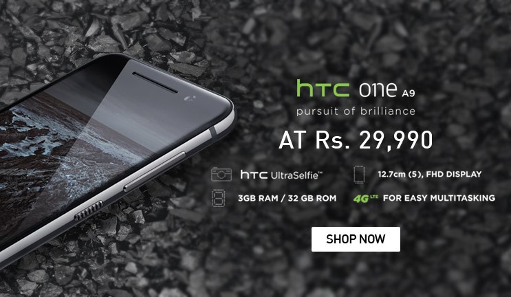 HTC One A9 Open Sale Live on Snapdeal