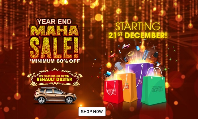 HomeShop18 Year End Maha Sale