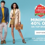 Jabong Anniversary Sale – Minimum 40% OFF on Top Brands