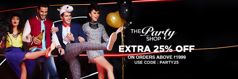 Jabong Party Shop Extra 25