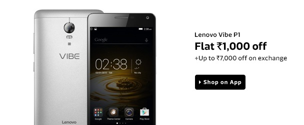 Lenovo Vibe P1 is Available at Rs 14999