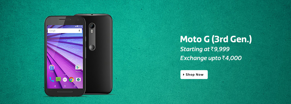 Moto G3 Price Slashed on Flipkart