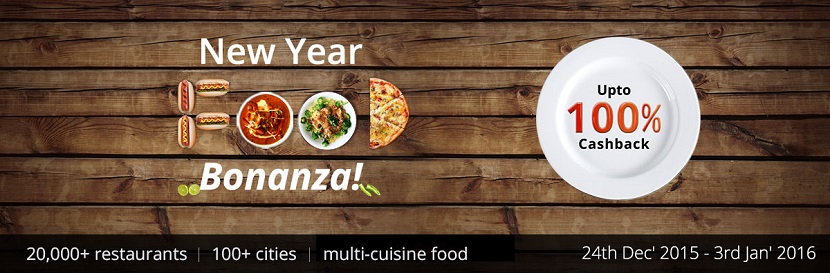 New Year Food Bonanza Paytm Cashback