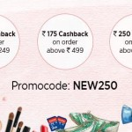 Paytm First Time Shoppers – Get Rs.250 Cashback on First Transaction