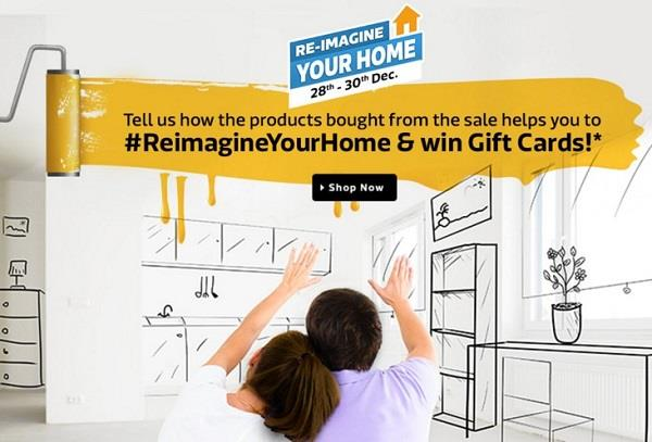 Flipkart Re-imagine Your Home Sale