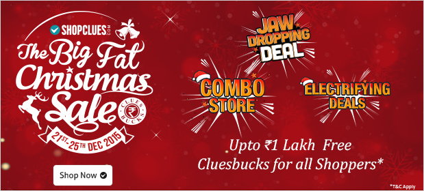 Shopclues Big Fat Christmas Sale Page