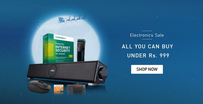 Snapdeal Electronics Sale 999