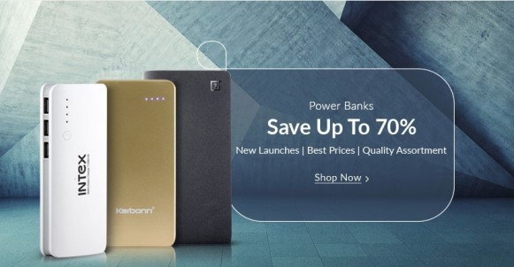 Snapdeal Power Banks Offer New upto70