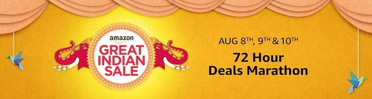 Amazon Great Indian Sale - 8th, 9th and 10th August