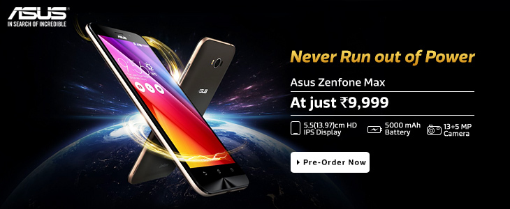 Asus Zenfone Max Launched on Flipkart