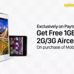 Free 1GB 3G Aircel Data on Purchase of Mobiles at Paytm