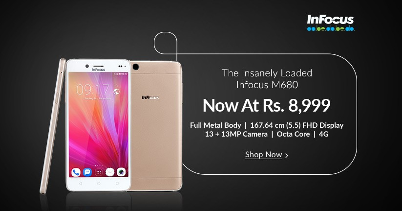 Infocus M680 Smartphone available at Rs.8999 on Snapdeal