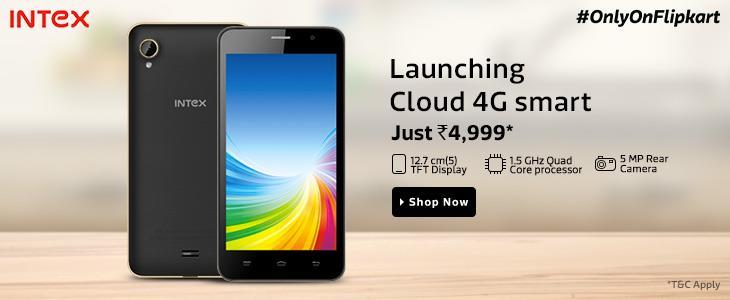 Intex Cloud 4G Smart available on Flipkart
